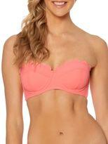 Jessica Simpson Under the Sea Scalloped Edge Bandeau Bikini Top