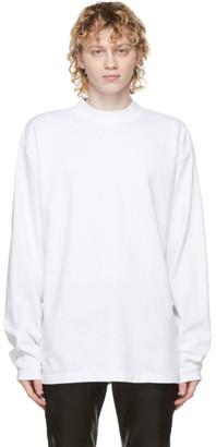 John Elliott White 900 Mock Neck Long Sleeve T-Shirt
