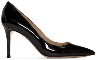 Gianvito Rossi Black Patent Gianvito 85 Heels