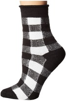 Plush Thin Rolled Fleece Socks Women's Crew Cut Socks Shoes