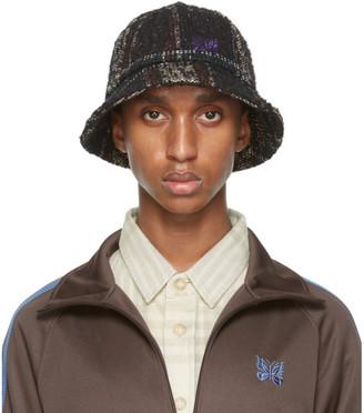Needles White and Black Wool Bermuda Hat