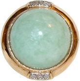 One Kings Lane Vintage 14K Gold, Jade & Diamond Ring