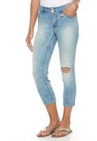 Apt. 9 Petite Distressed Straight-Leg Crop Jeans