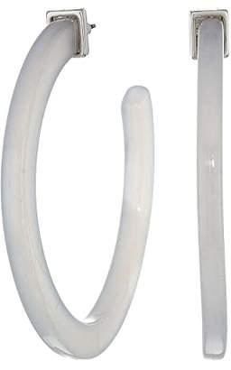 Steve Madden Acrylic C Hoop Post Earrings