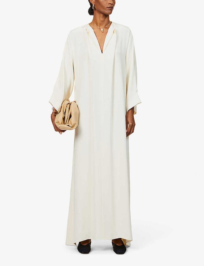 LA COLLECTION Apollo silk-crepe maxi dress