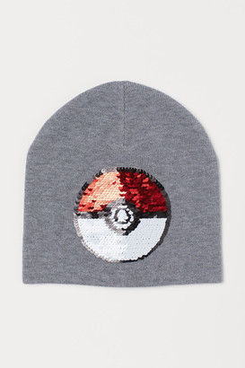 H&M Hat with Reversible Sequins - Gray
