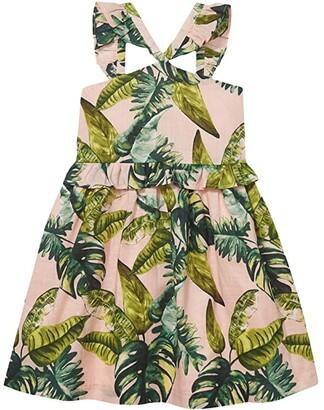 Janie and Jack Printed Dress (Toddler/Little Kids/Big Kids) (Multi) Girl's Dress