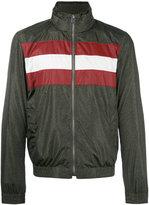 Bally striped panel bomber jacket - men - Polyamide/Polyester/Metallic Fibre - 48
