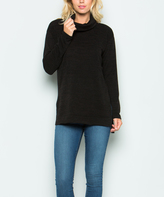 Sweet Pea Black Turtleneck Tunic