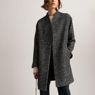La Redoute Collections Herringbone Collarless Coat