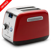 KitchenAid NEW KMT223 Empire Red Two Slice Toaster