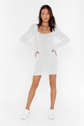 Nasty Gal Womens Puff Love Square Neck Mini Dress - White