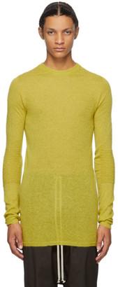 Rick Owens Yellow Mohair and Alpaca Biker Level Round Neck Sweater
