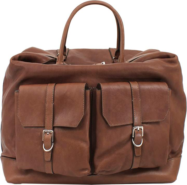 Brunello Cucinelli Weekender Bag with Front Pockets