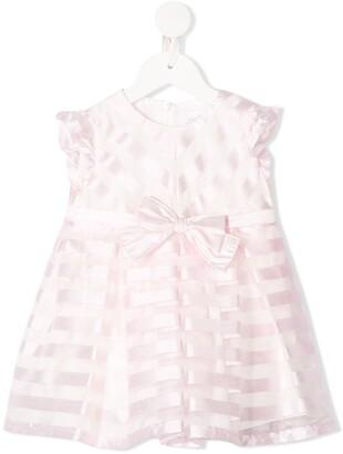 Aletta Striped Bow-Embellished Dress