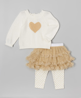 Wendy Bellissimo Gold Heart Pullover Set - Infant