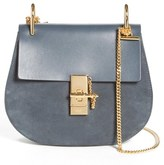 Chloé Small Drew Leather & Suede Shoulder Bag - Blue