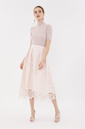 Coast Cutwork Full Midi Skirt