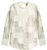 Sea Lace cut-out patchwork top
