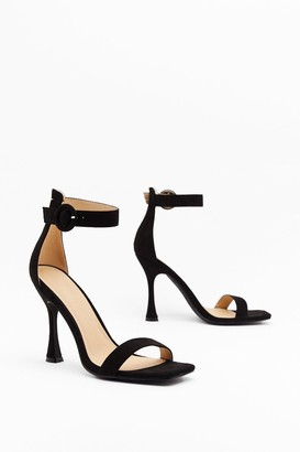 Nasty Gal Womens Standing on Higher Ground Faux Suede Stiletto Heels - Black