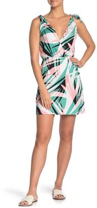 Bikini Lab Sonic Boom Palm Print Cover-Up Dress