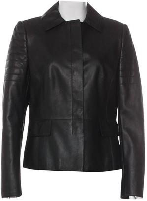 Akris Punto Black Leather Leather Jacket for Women