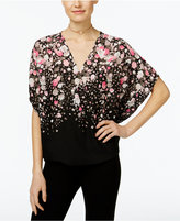 INC International Concepts Surplice Butterfly-Sleeve Top, Only at Macy's