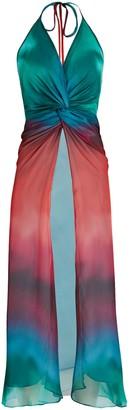 PatBO Sunset Tie-Dye Chiffon Top