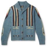 RRL - Chimayo Shawl-Collar Cotton, Linen and Silk-Blend Jacquard Cardigan