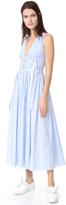 No.21 No. 21 Sleeveless Striped Long Dress