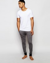 Asos Loungewear Super Skinny Joggers In Charcoal Marl
