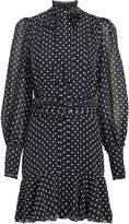 Alexis Ivette Embroidered Chiffon Mini Dress