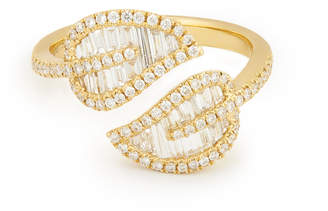 Anita Ko 18-Karat Yellow-Gold Leaf Ring