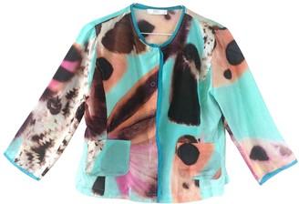 Nice Connection Multicolour Silk Top for Women