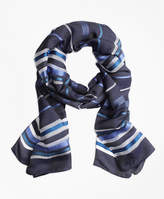 Brooks Brothers Striped Silk Scarf