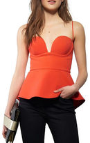 KENDALL + KYLIE Peplum Solid Top
