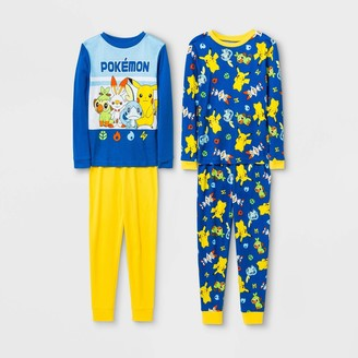 Pokemon Boys' 4pc Pajama Set -