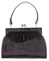Judith Leiber Alligator Frame Bag