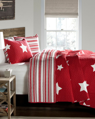 Triangle Home Fashion Star Quilt Set