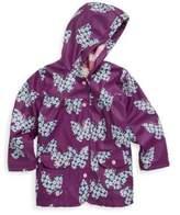 Hatley Little Girl's & Girl's Butterflies & Buds Polyurethane Raincoat