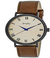Simplify Unisex Brown Strap Watch-Sim2905
