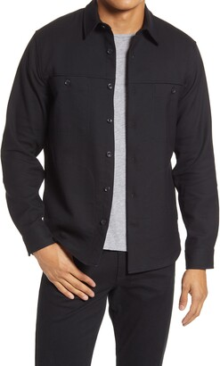 Vince Men's Button-Up Workwear Shirt Jacket