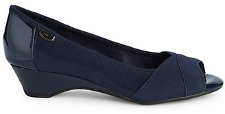 Anne Klein Sport AK Memory2 Peep-Toe Wedge Pumps