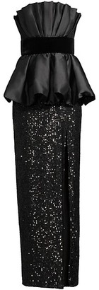 Jay Godfrey Julian Bubble Peplum & Sequin Gown