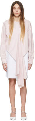 Cédric Charlier Pink and White Stripe Dress