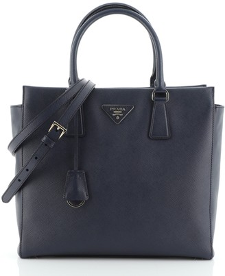 Prada Convertible Open Tote Saffiano Leather Small