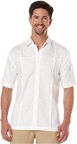 Cubavera Linen Pintuck Paneled Shirt