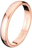 Metals Jewelry 3mm Thin Rose Gold Plated Ring Tungsten Carbide Wedding Band Size 4