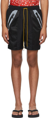 Rhude Black Nylon Shorts