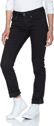 G Star Women's Midge Saddle Mid-Waist Straight Jeans Black (Rinsed 8970-082) 25W / 30L